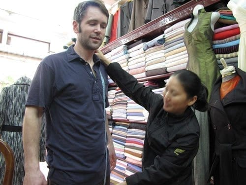 custom tailoring experience in hoi an. Being measured