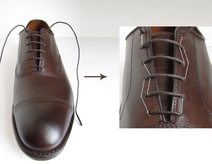 how to bar lace dress shoes for men