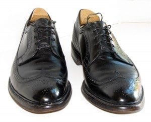 allen edmonds black vintage wingtip