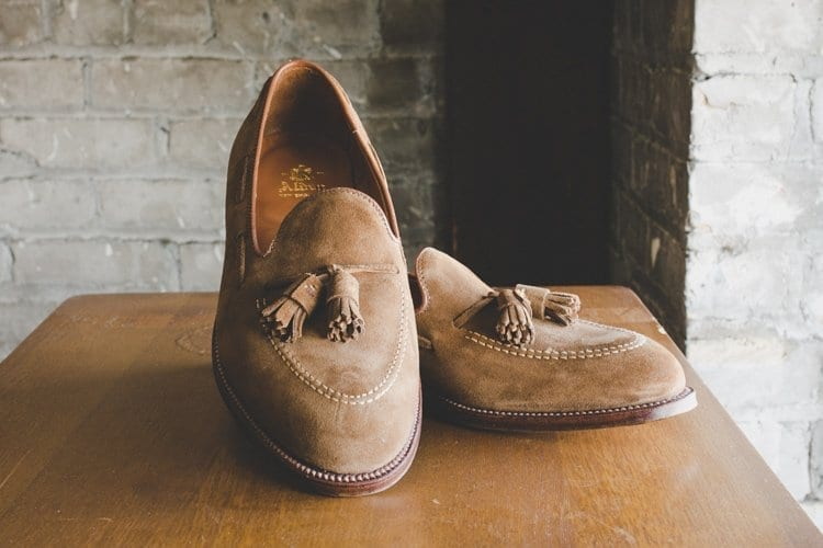 tassel mocs by alden, tan