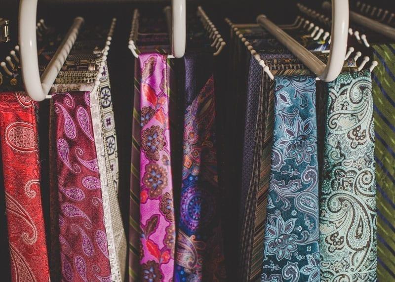 cabinet for necktie storage