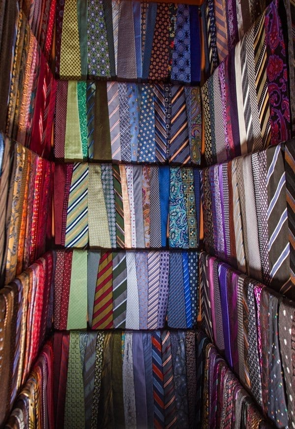 tie closet at a customer's house