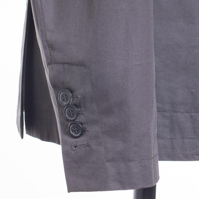 functional cuffs on a double breasted sport coat by Lanvin, surgeon's cuff