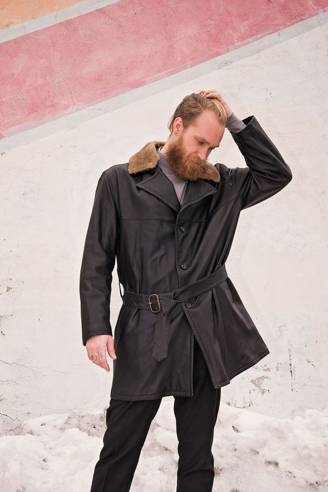 Cifonelli outerwear, leather jacket