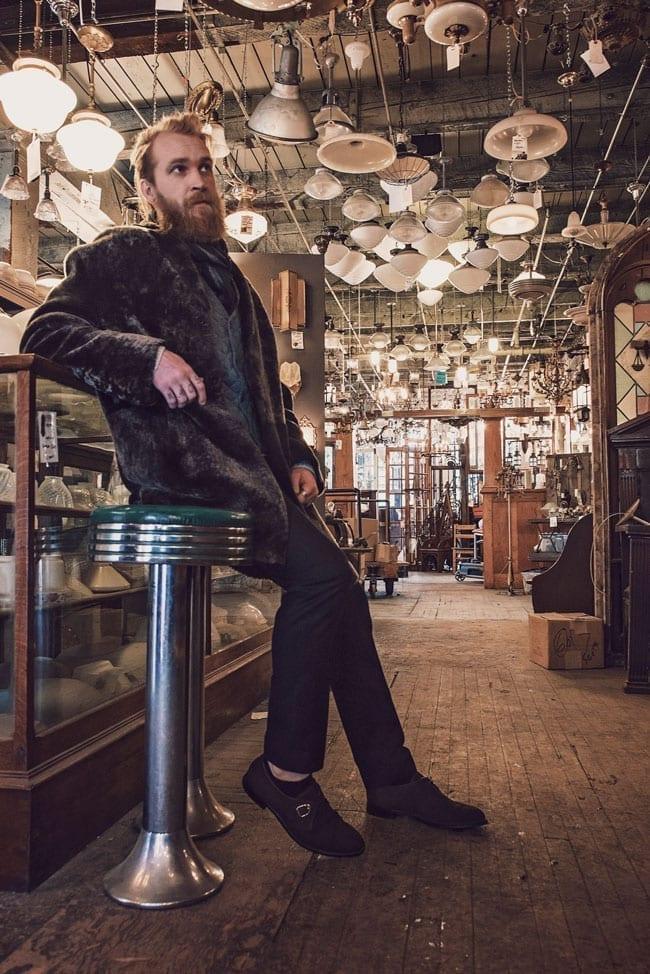 Prada Shearling Coat, lookbook, secondhand antiques