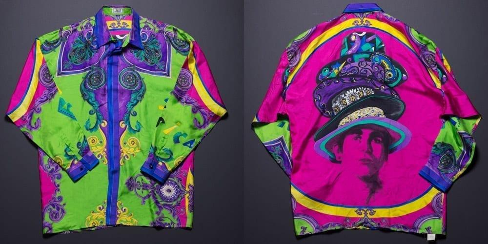 Versace silk print 90s shirt, hats