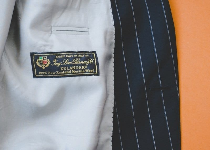 Loro Piana wool on used men's suit