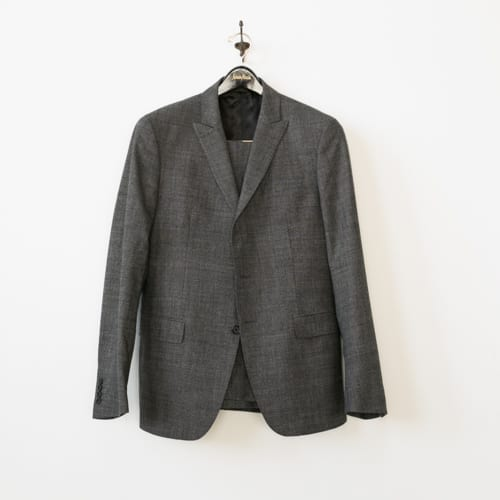 Used Suit - front view on hanger