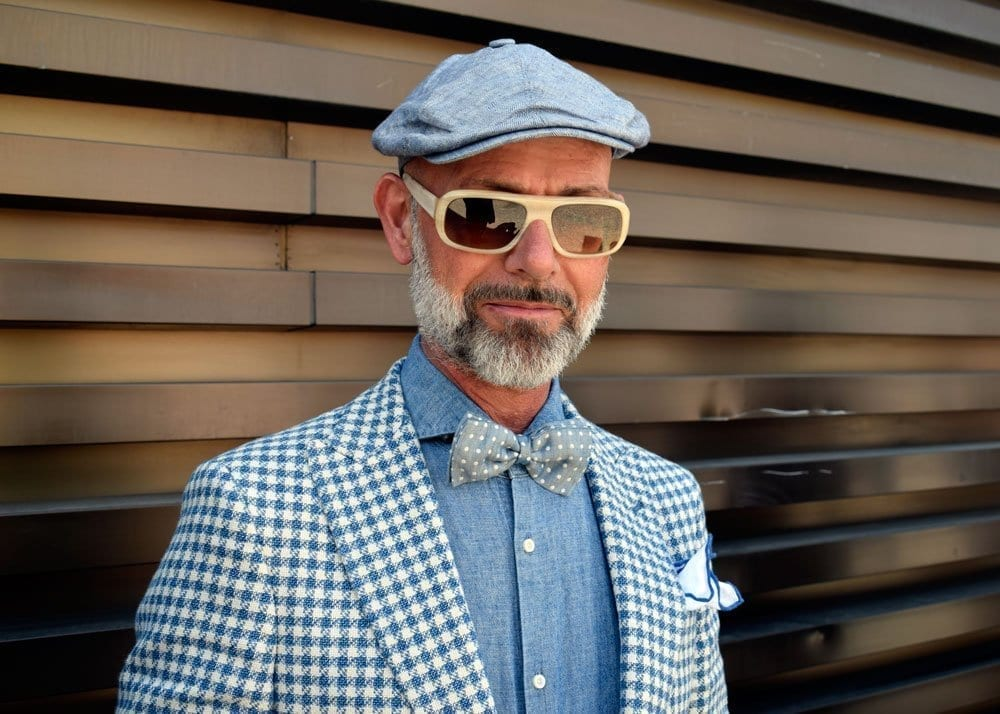 Man at Pitti Uomo, June 2018