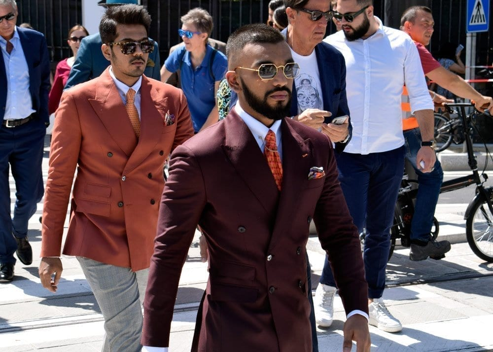 Red suit, Pitti Uomo
