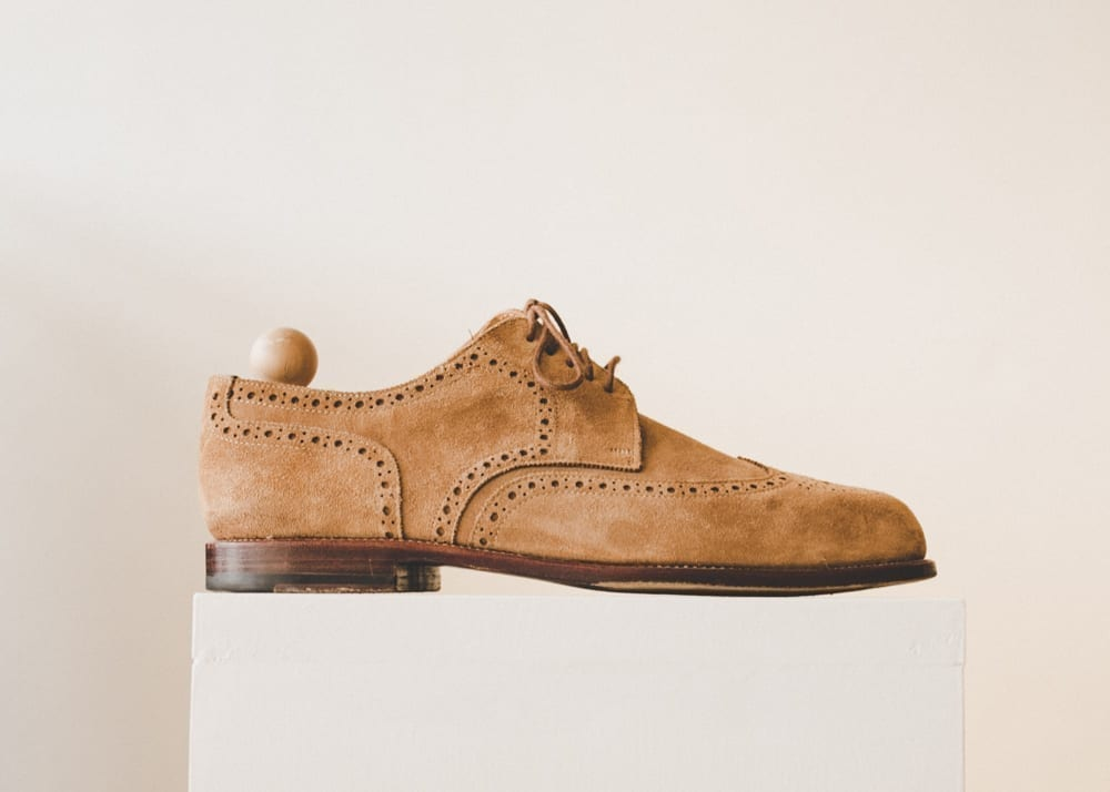 Snuff tan suede brogue