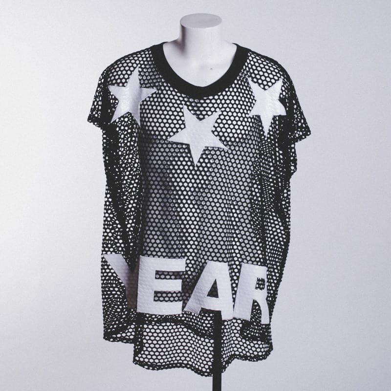 black mesh shirt, year zero london, men's
