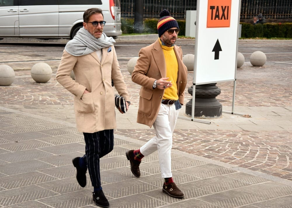 Color block, beanie, Pitti Uomo 2019 Winter