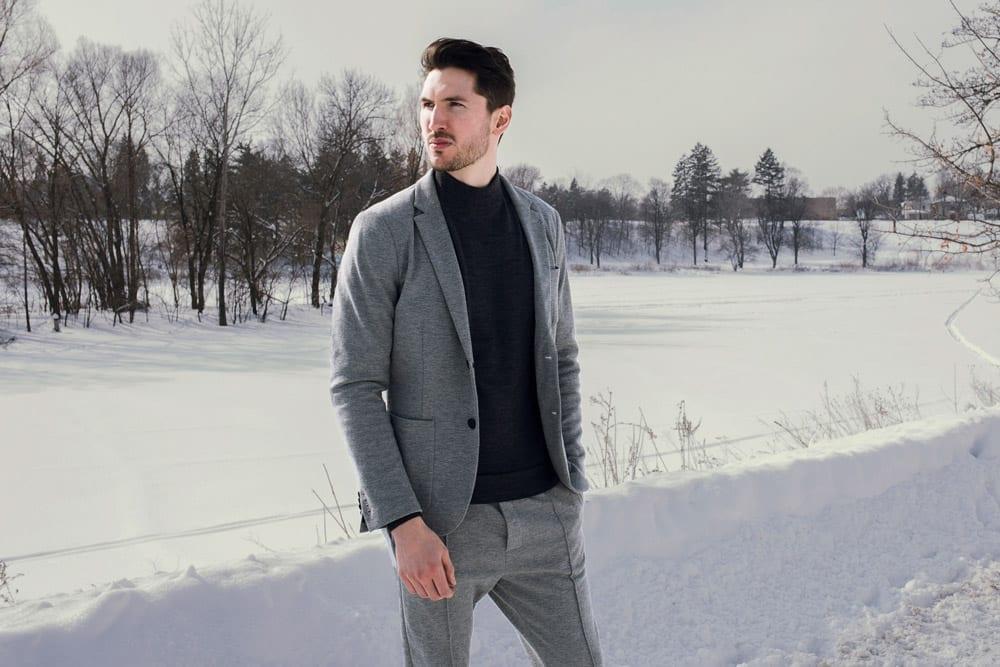 emporio armani winter suit