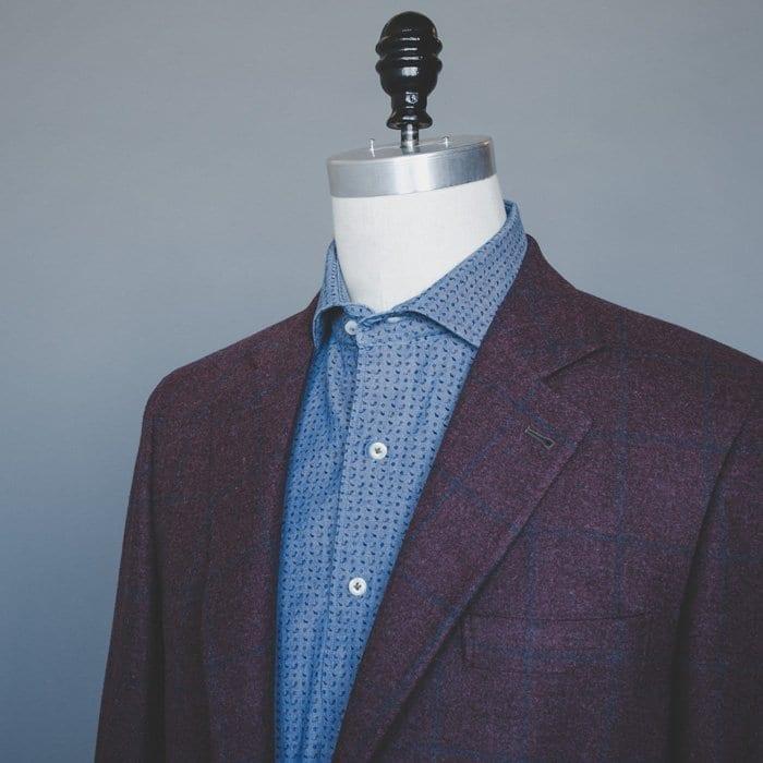 burgundy blazer, brunello cucinelli