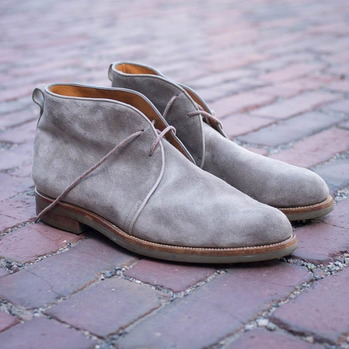 gray suede chukka by J.M. Weston