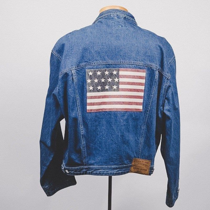 flag jean jacket, polo rl