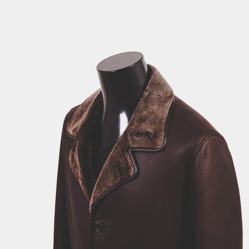 shearling coat, zegna