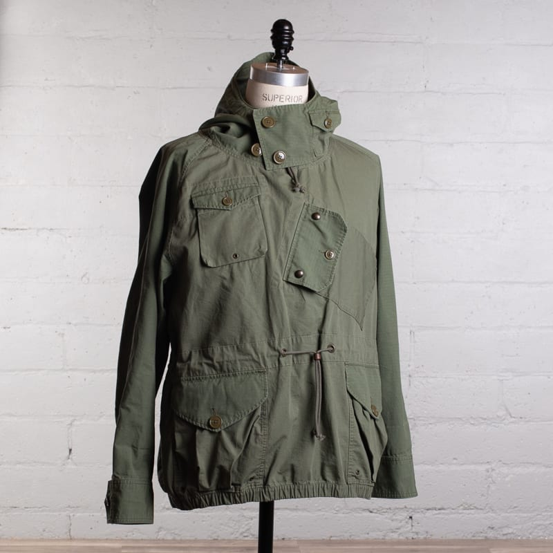 olive green wallace and barnes canoeist smock