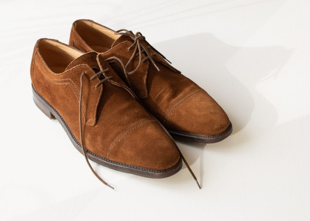 pre-owned dress shoes, brown