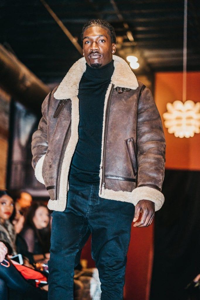 chevignon shearling jacket